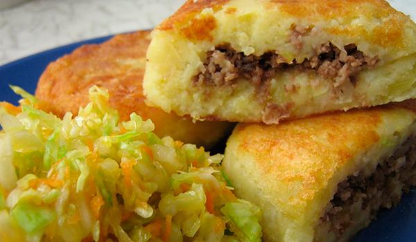 Зразы из картошки с мясом