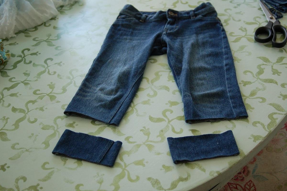 Как сделать из мужских джинсов шорты