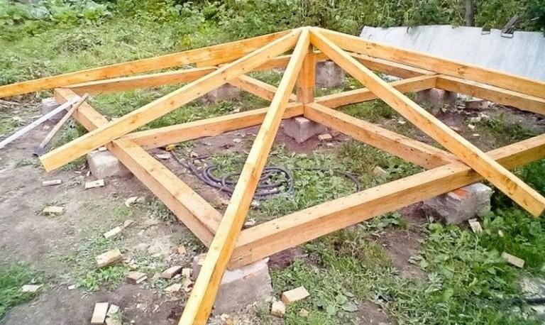 Как строить крышу для беседки своими руками и